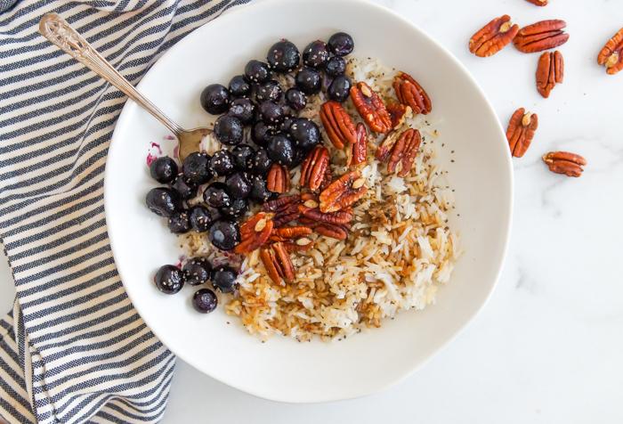 blueberry pecan grain bowl
