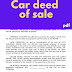 Car deed of sale sample philippines letter template