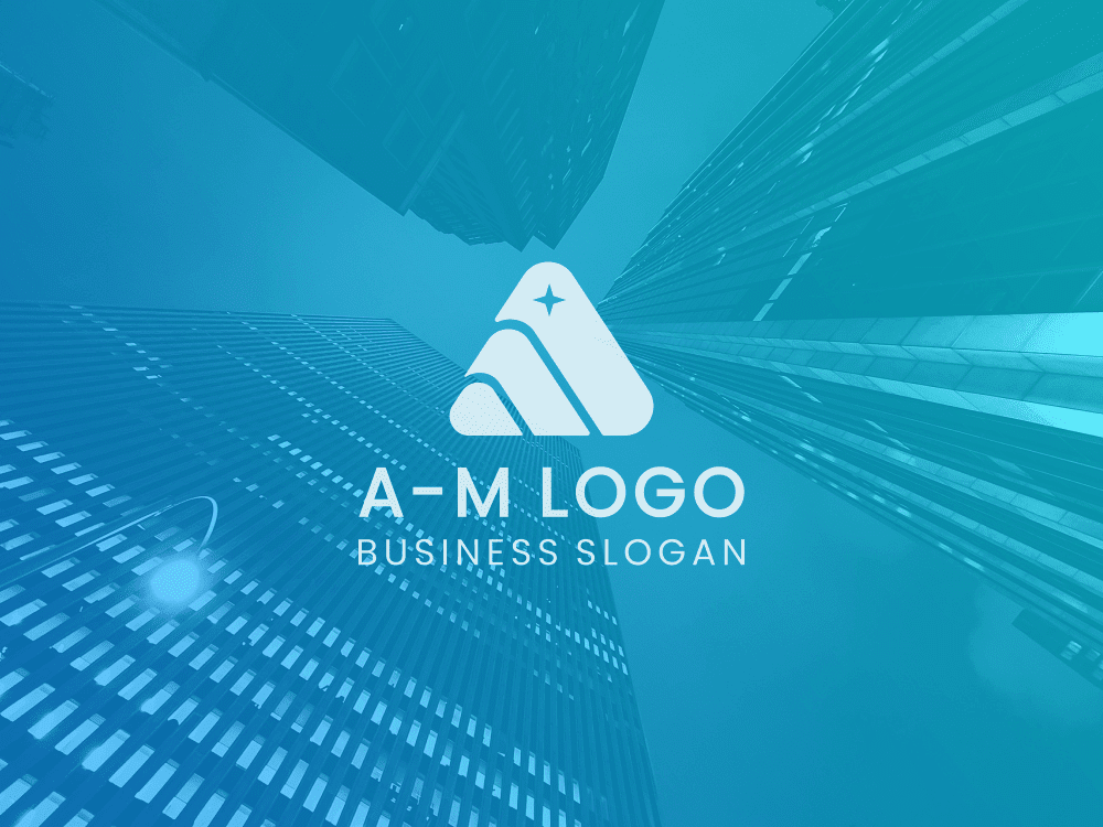 Free logo triangle overlay on colored background