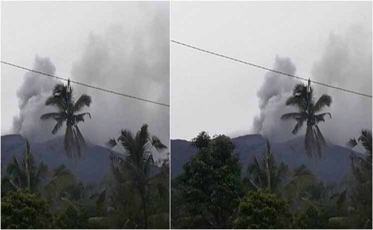 Astagfirullah Gunung Agung Meletus, Asap dan Abunya Membubung Setinggi 600 Meter