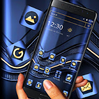 Blue Metallic Business Launcher Theme Apk free Download for Android