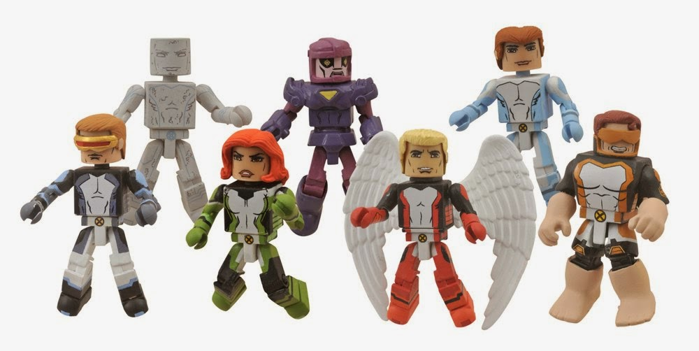 All-New X-Men Marvel Minimates - Cyclops, Iceman, Marvel Girl, Sentinel, Angel, Bobby Drake & Beast