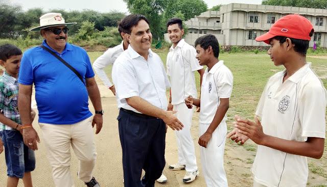 The two-day cricket competition ended in Faridabad, Jawahar Navodaya Vidyalaya