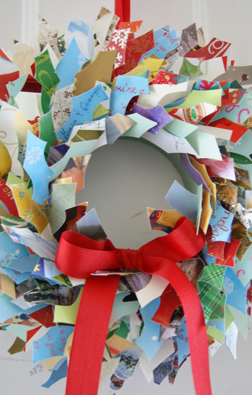 Crafty Sy: Christmas Card Wreath