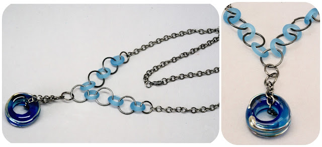 Blue Ring Necklace by BayMoonDesign