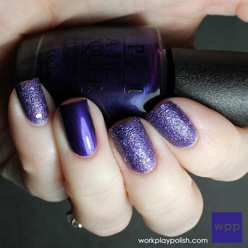 OPI Can't Let Go and Tomorrow Never Dies (work / play / polish)