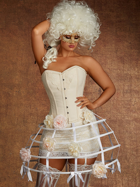 liliith Vintage Lace& Cotton Corset
