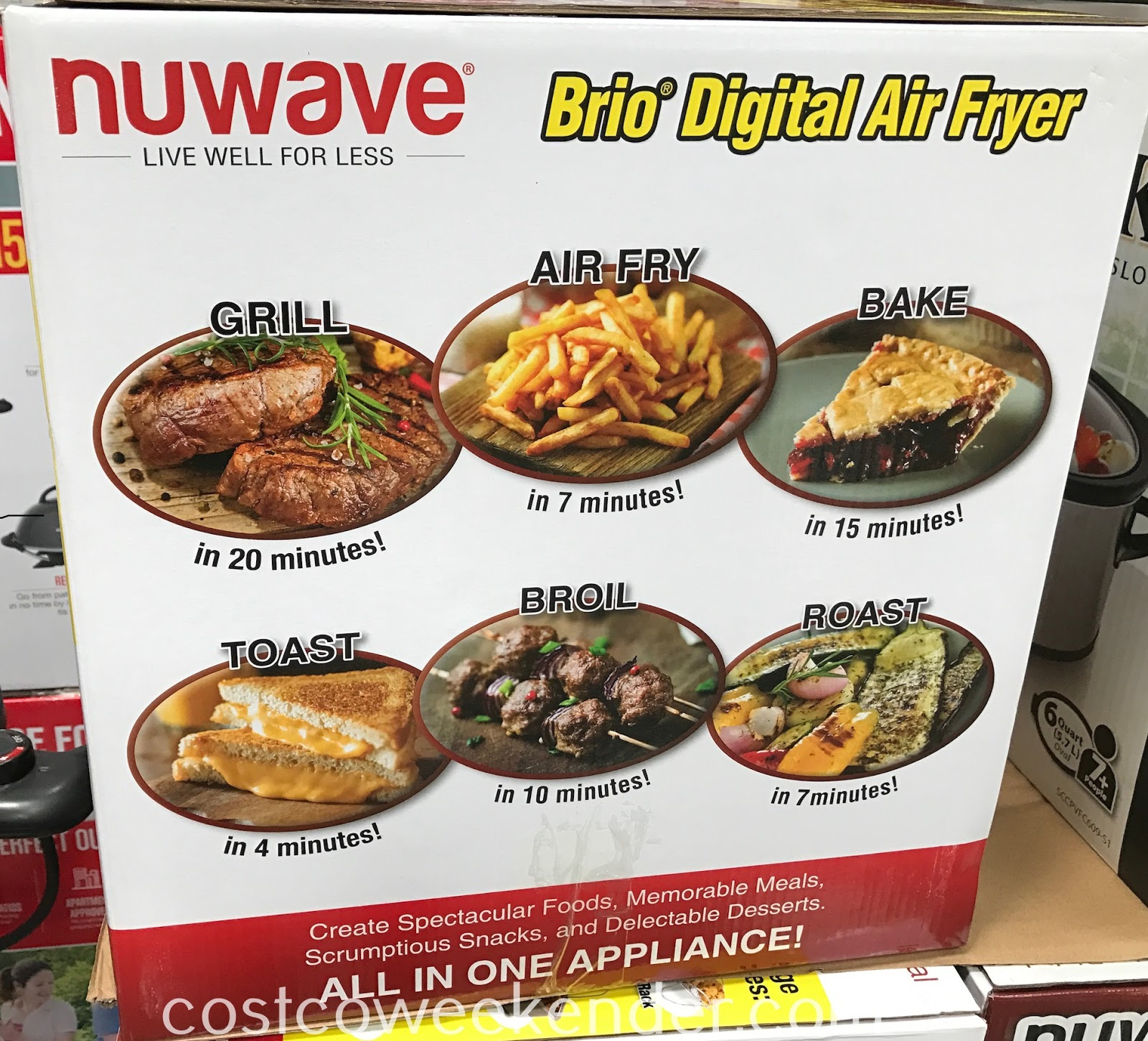 Nuwave Brio Digital Air Fryer: grill, air fry, bake, toast, broil, roast