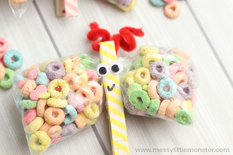 butterfly snack bag craft