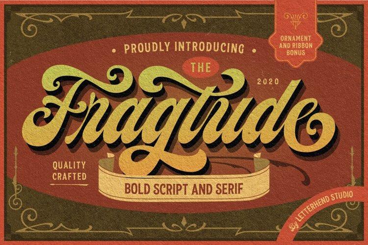 Fragtude Font - Free Vintage Script Typeface