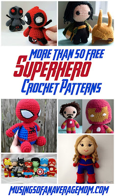 free superhero crochet patterns