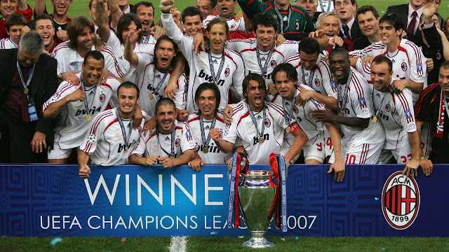Top 10 Clubs with most Champions League Titles - AC Milan