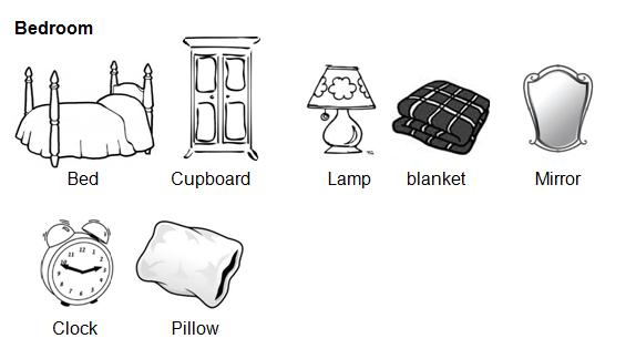 Hari ini kita bertemu lagi dengan materi baru Kosakata 'Things in the Bedroom' beserta Contoh Kalimat dan Soal Latihannya