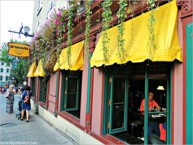 Restaurante D'Orsay en la Ciudad de Quebec