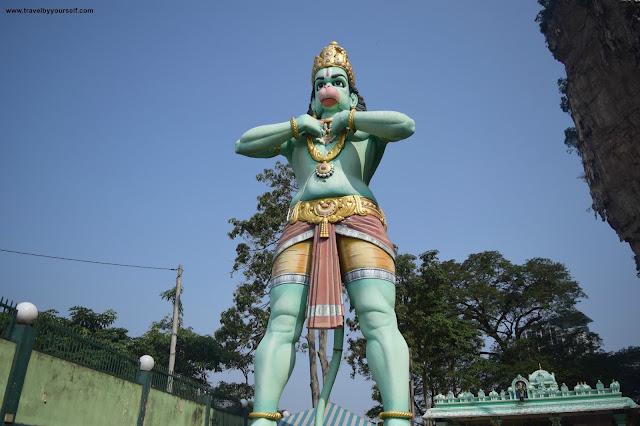 Hanuman statue in Ramayana caves Malaysia