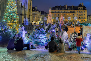 Photo des illuminations Noël avec un smartphone