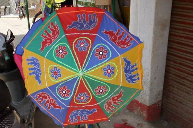 Chandua art umbrella from the streets of Pipili, Odisha