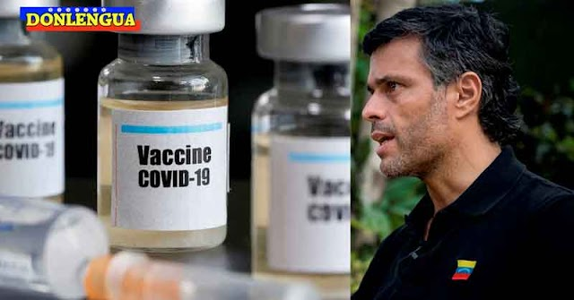 Leopoldo López dice que vacunas que llegan a Venezuela son traficadas por el Régimen a 400$