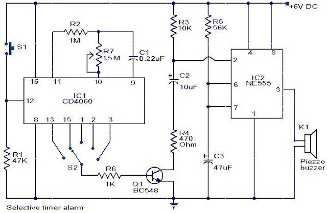 Ten Minute Timer Circuit using NE555