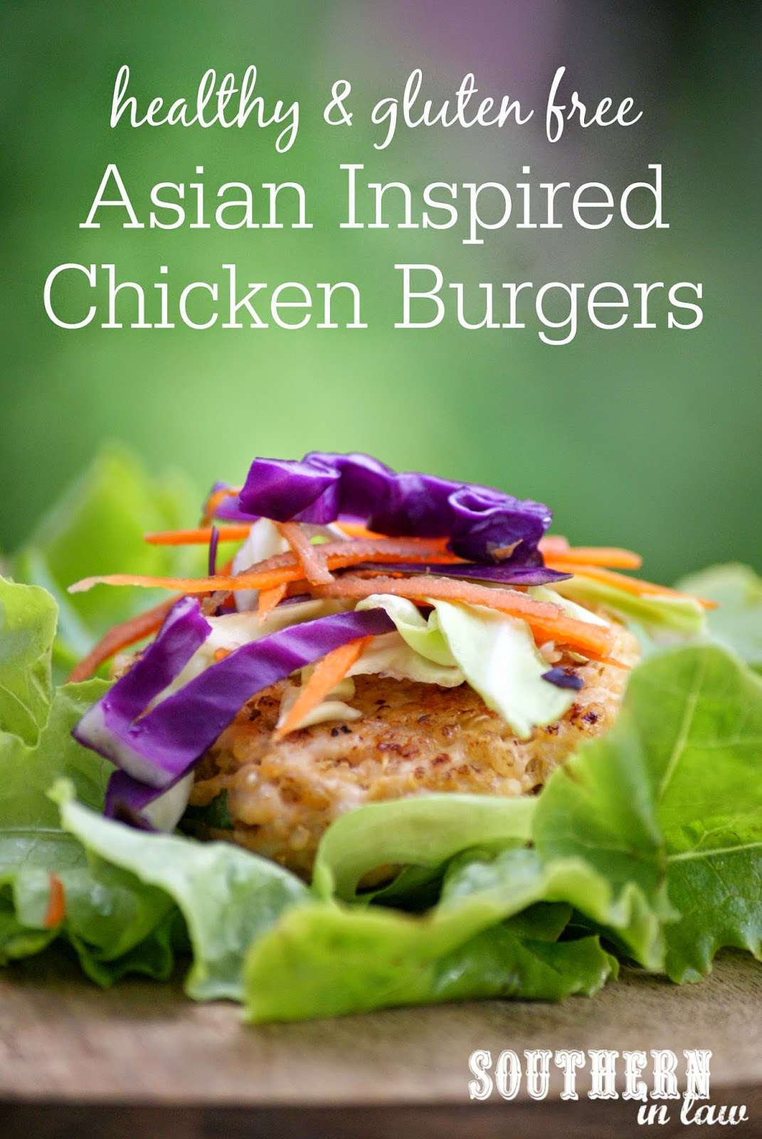 Asian Inspired Chicken Burger Recipe with Mayo and Asian Slaw - gluten free, low fat, healthy, clean eating friendly