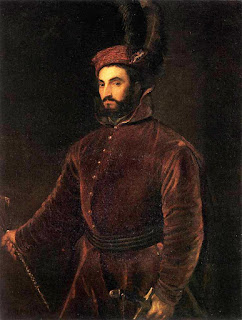 Ippolito dè Medci, as portrayed by Titian  between 1532 and 1534, in Hungarian dress