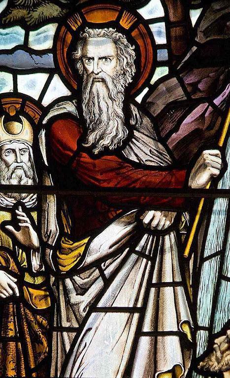 Moisés, vitral da catedral de Edinburgo, Escócia