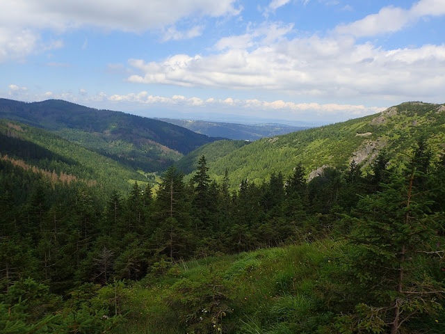 Dolina Jaworzynki widziana z okolic przełęczy między Kopami