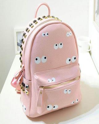 Bolsa para la escuela rosada