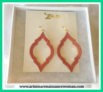 February 2016 Stitch Fix Review - Zad Clarence Beaded Spade Earrings