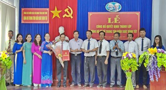 Lễ công bố Quyết định thành lập Đảng bộ cơ sở Trung tâm Kiểm soát bệnh tật trực thuộc Đảng ủy Khối các cơ quan tỉnh Kon Tum