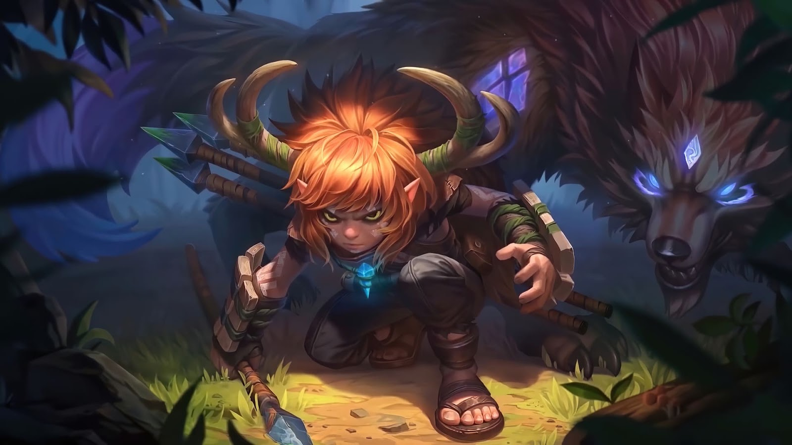 Wallpaper Popol and Kupa Hunting Pals Skin Mobile Legends HD for PC