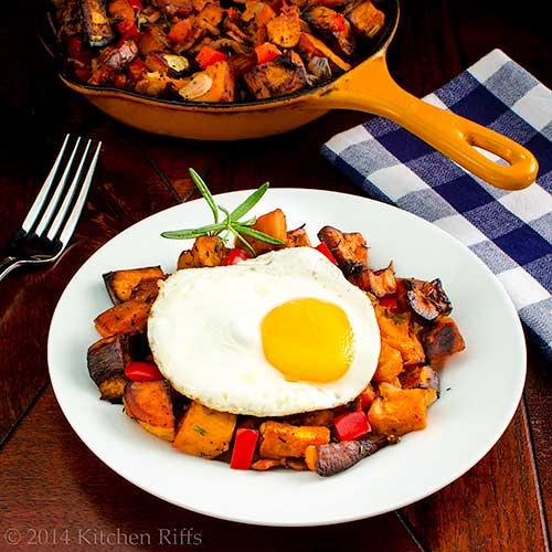 Easy Sweet Potato Hash with Bacon