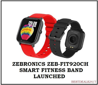 Zebronics Launches ZEB-FIT920CH Smart Fitness Band