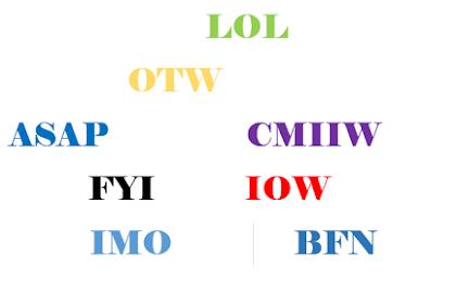 Kumpulan Istilah dan Singkatan Bahasa Inggris Gaul Beserta Artinya