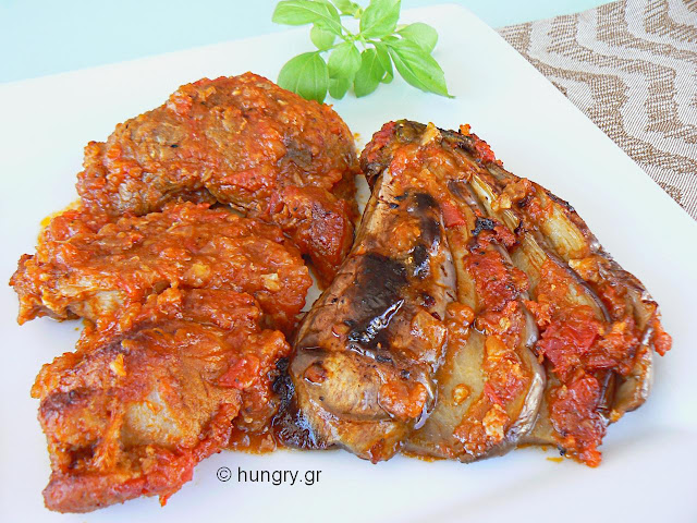 Eggplant with Meat in the Oven