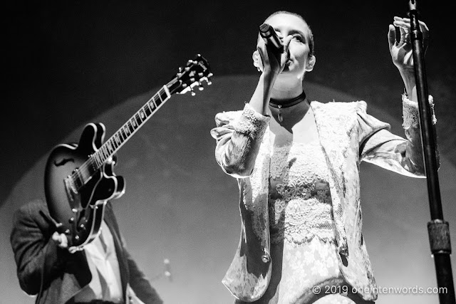 July Talk at Budweiser Gardens in London Ontario on April 28, 2019 Photo by John Ordean at One In Ten Words oneintenwords.com toronto indie alternative live music blog concert photography pictures photos nikon d750 camera yyz photographer