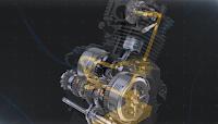 Gambar menunjukkan cara aliran minyak perlincir pada enjin motor