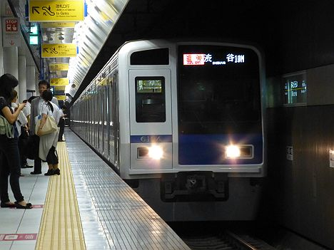 東急東横線 通勤特急 元町・中華街行き6 西武6000系