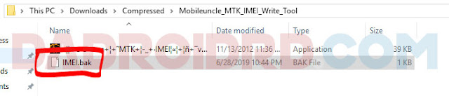 Restore IMEI Android (MTK)
