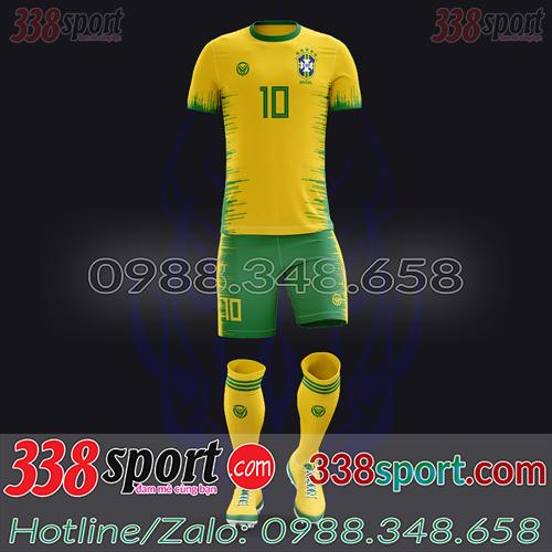 Áo Đội Tuyển Brazil Đặt May Theo Yêu Cầu - Mã BRAZIL 05