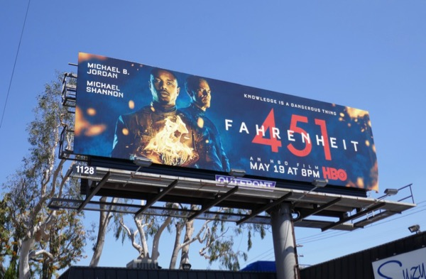 Fahrenheit 451 movie billboard