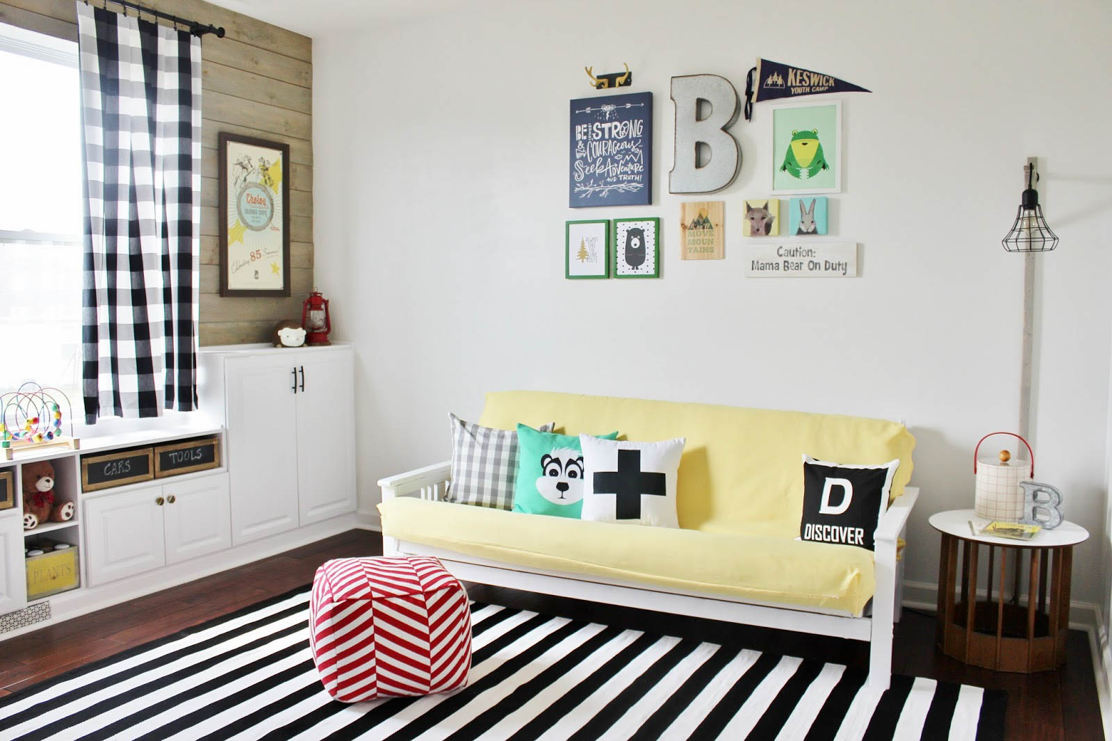 Delightfully Noted Home Tour - Modern Fresh Farmhouse Decorating Ideas - Kids Play Room Decorating Ideas