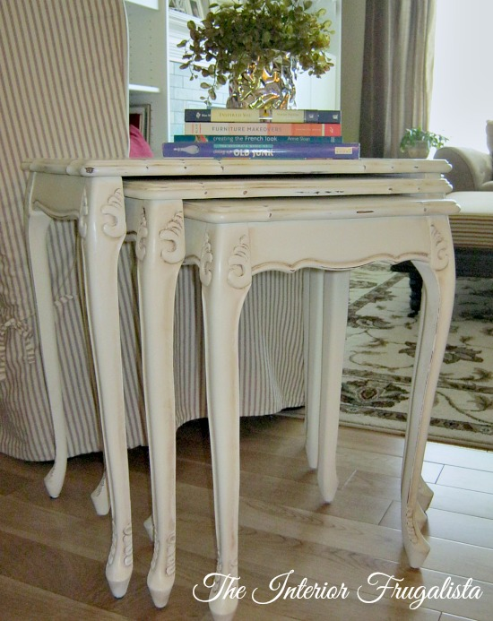 Nesting Table Makeover with Annie Sloan Chalk Paint™ in Old White