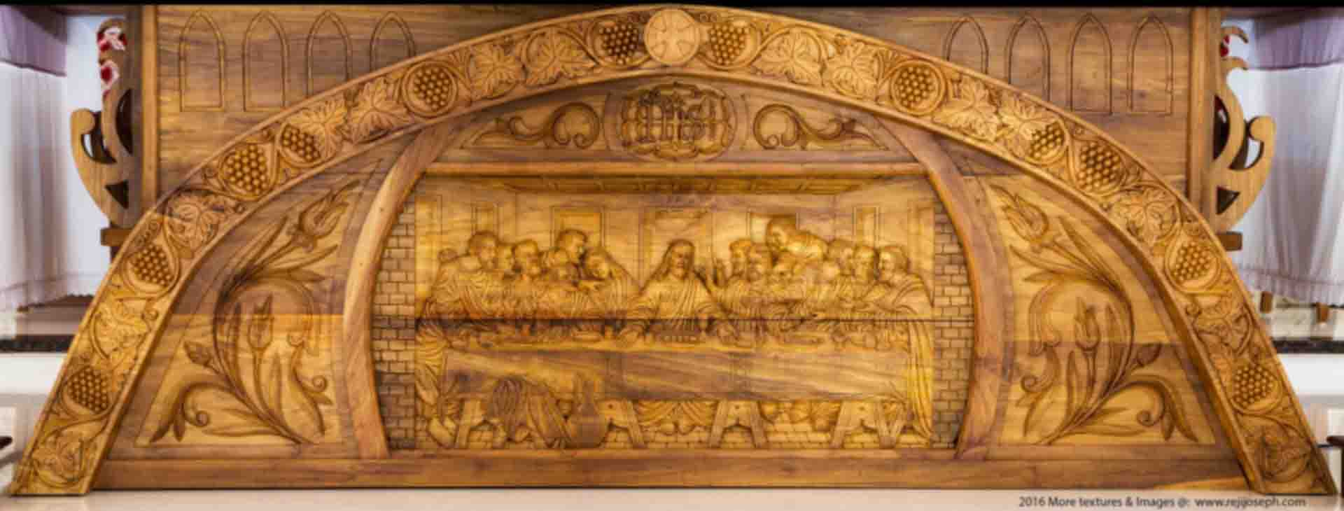 Last supper wooden relief 001