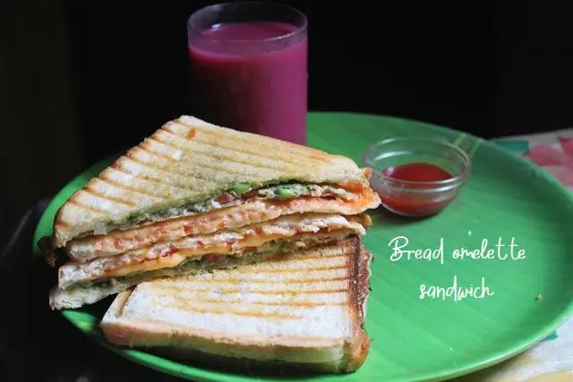 Best breakfast bread omelette sandwich recipe at home