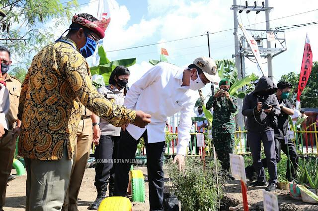 Ratu Dewa Kunjungi Kampung Tangkal Covid-19 di Kecamatan Kalidoni