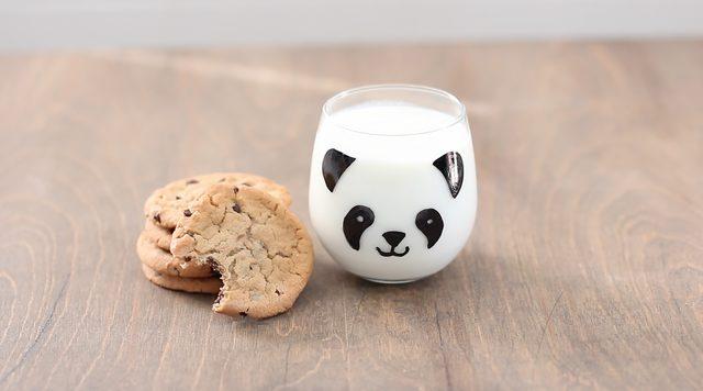 Panda resimli cam bardak