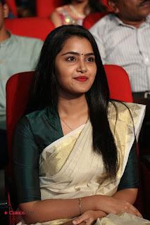 Actress Anupama Parameshwaran Pictures in Saree at A Aa Music Launch  0066.JPG