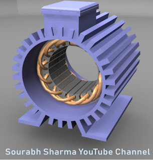 stator of induction motor is made up of cast iron and consists of strips and terminal box