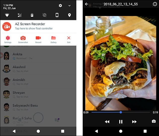 ScreenRecorder of stories in snapchat